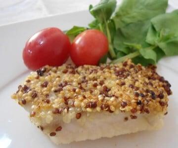 Receita de Tilápia com Crosta de Quinoa